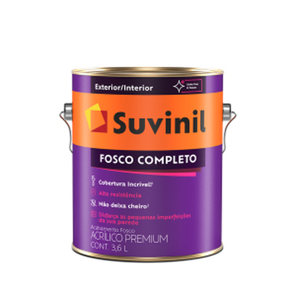 ACRILICO FOSCO COMPLETO BRANCO 3,6 LITROS
